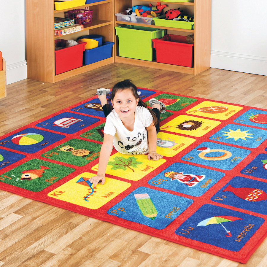Small Abc Rug: Buy Alphabet Square Carpet L200 X W200cm