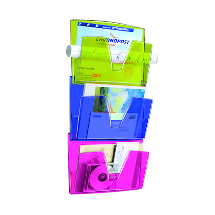Multicoloured Wall Mounted Documents File 3pk  large