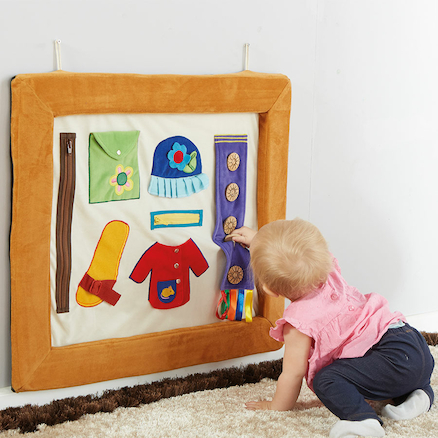 Soft Activity Frame with Textures and Fastenings  large