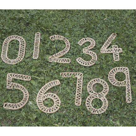 Sea Grass Outdoor Weaving Numbers 0-9  large