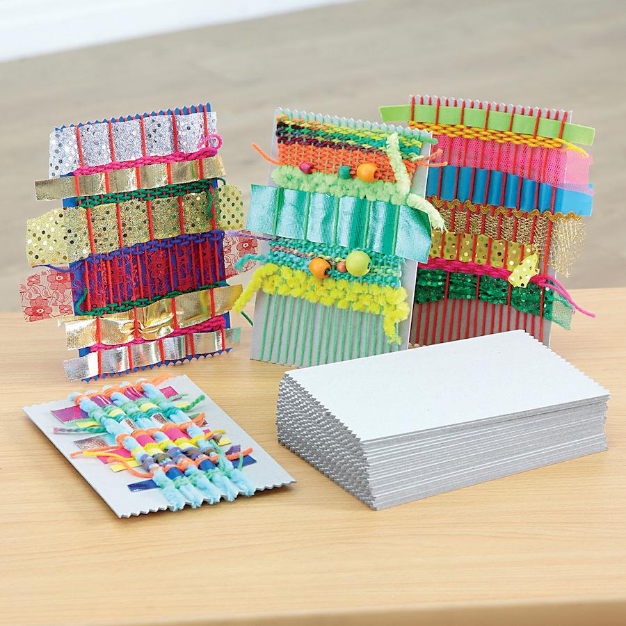 Buy Grey Board Weaving Cards 25pk Tts