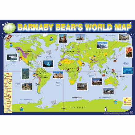 Barnaby Bear World Map A1  large