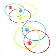 Colourful Fold Away Grouping Circles 6pcs  medium