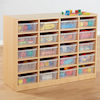 Open Storage Unit with 20 Small Compartments  small