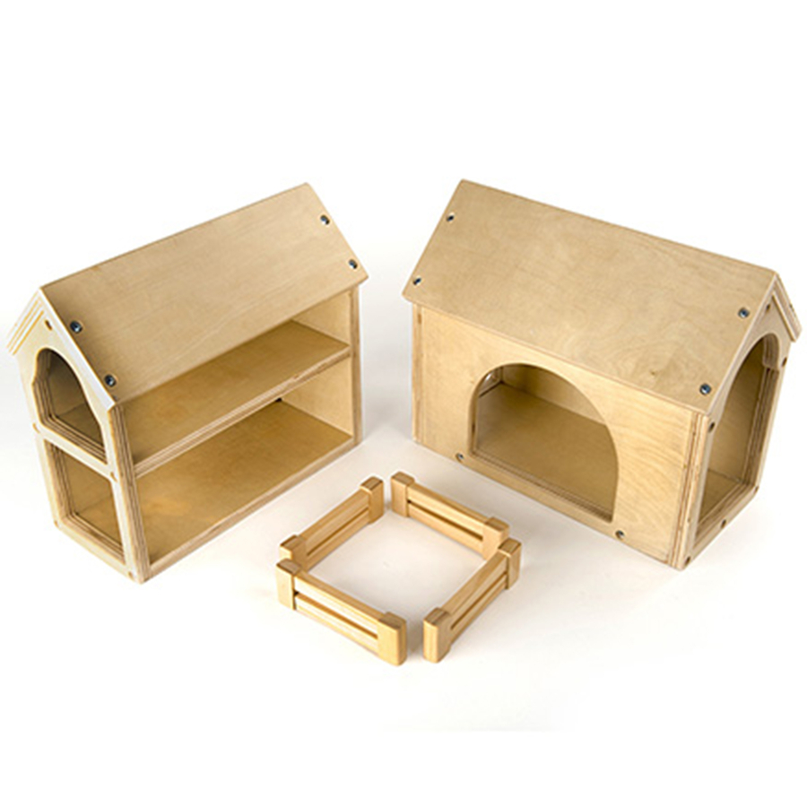 Buy wooden farm buildings small world play set tts for Small wooden structures