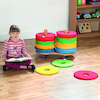 Multicoloured Donut Cushions and Trolley 32pk  small