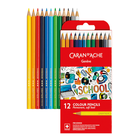 Caran Dache Colouring Pencils Assorted 12pk  large