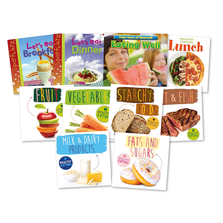 KS1 Healthy Eating and Nutrition Books 10pk  large