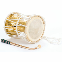Indian Talking Drum and Beater  medium