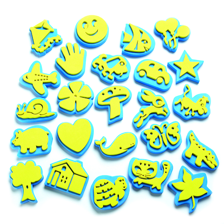 Crafty Foam Stamping Shapes 24pk  large