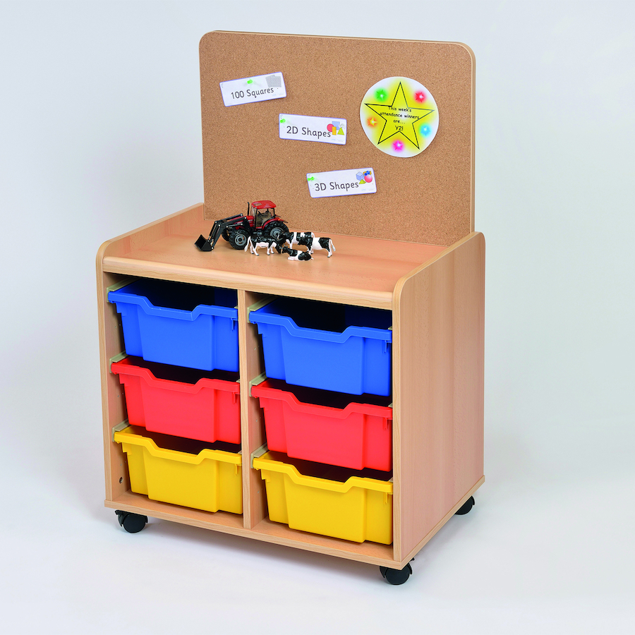 Buy Tray Storage Unit With Cork Display Board Tts