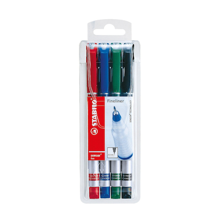 Assorted Stabilo Sensor Fineliner Pens 4pk  large