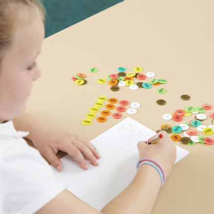 Coloured Plastic Place Value Counters  large