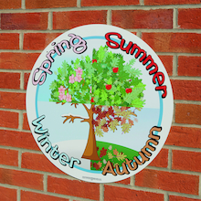 Seasons Tree Sign  medium