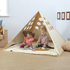 Lovely Learning Location Wooden Pyramid Den  small