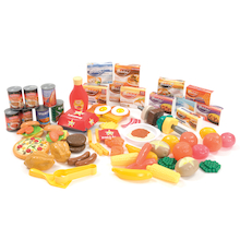 Plastic Role Play Cartons and Food Sets  medium