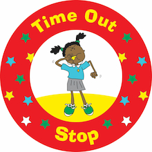 Time Out Stop Playground Sign  medium