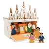 Wooden Mandir Model  small