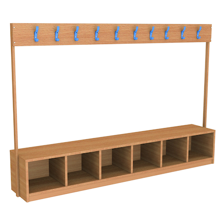 Cloakroom Bench with Storage  large