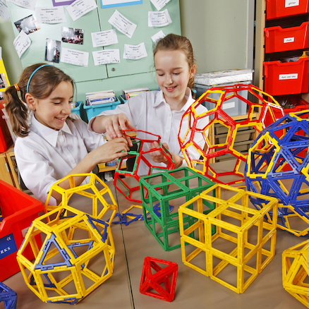 Plastic Polydron Frameworks Class Pack  large