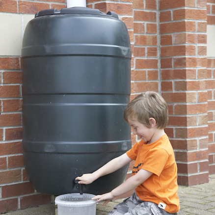 Water Butt With Childproof Lid and Tap  large