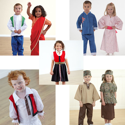 Multicultural Role Play Dressing Up Clothes  large
