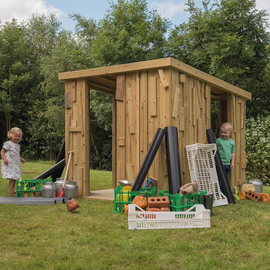 Buy outdoor wooden shabby shack shelter tts for Small garden shelter