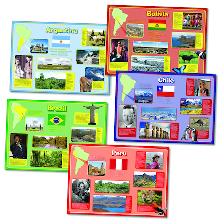 South America Posterpack A2 5pk  large