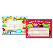 Assorted Maths Certificates 80pk  medium