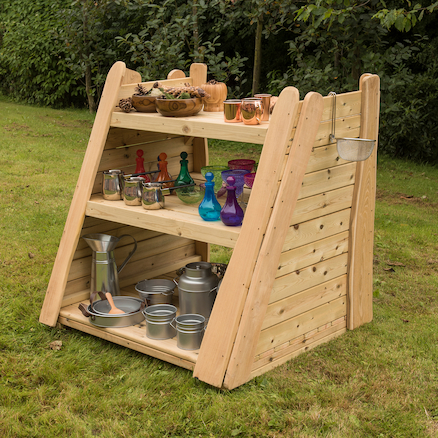 Rustic Outdoor Shelving  large