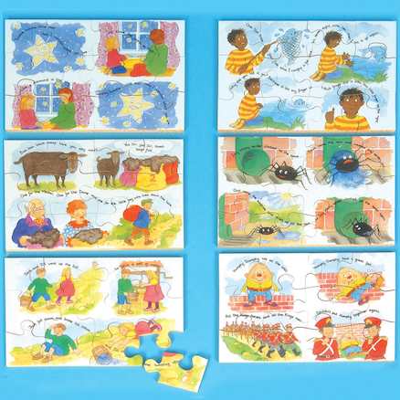 Wooden Nursery Rhyme Jigsaw Puzzle 6pk  large