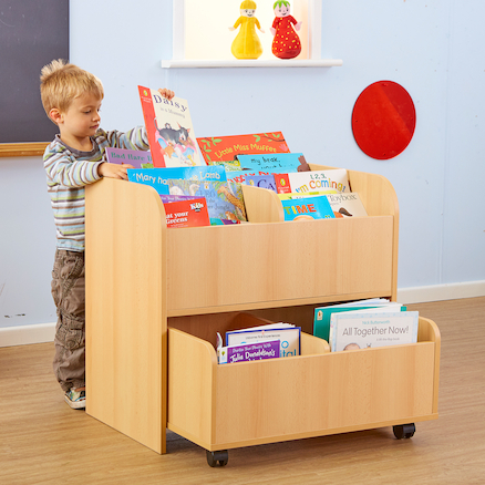 Book Storage Unit with Trolley  large