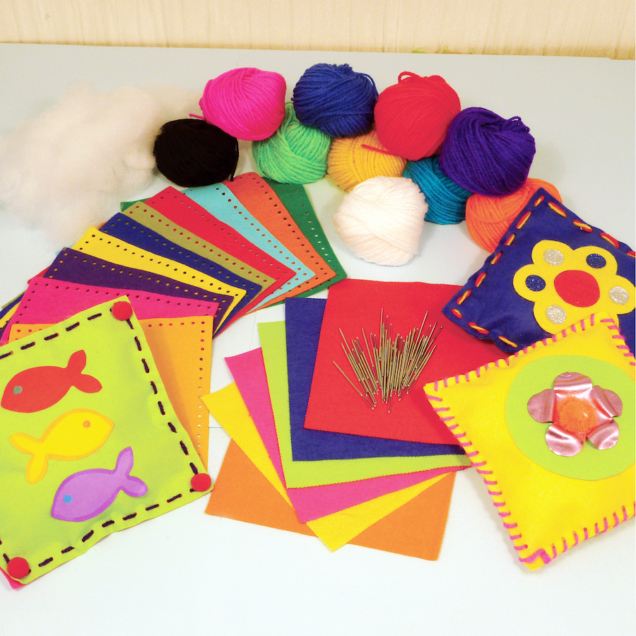 Buy pre punched felt cushion sewing kit tts for Pre punched paper for crafts