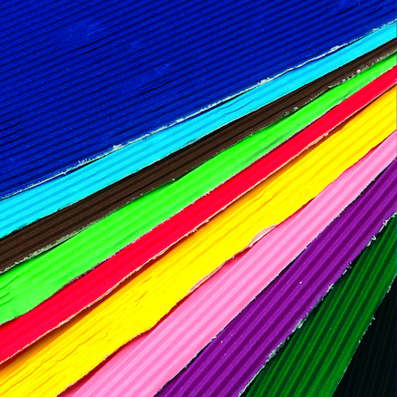 Coloured Corrugated Card 405 x 300mm 12pk  large