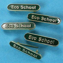 Eco Council Enamel Badges Green  medium