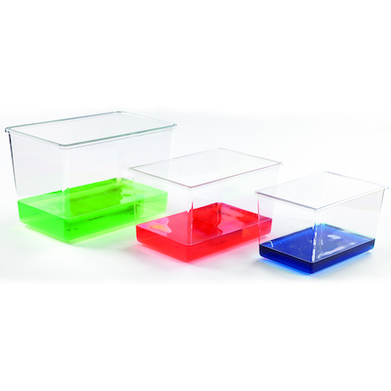 Assorted Transparent Plastic Tanks  large