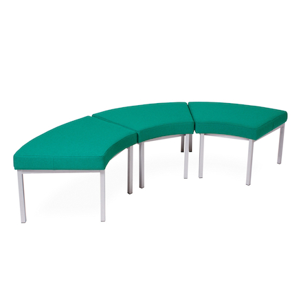 Modular Upholstered Curved Stool  large