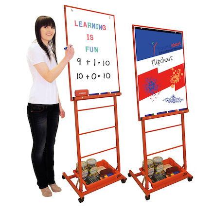 Mobile Portrait Drywipe Easel  large