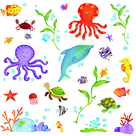 Under the Sea Wall Sticker Decoration  large