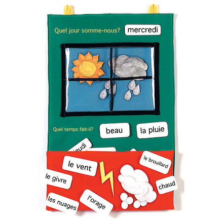 French Weather Vocabulary Wall Hanging  large