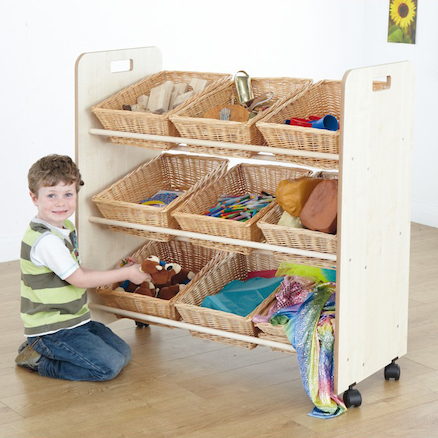 Continuous Provision Tilted Wicker Basket Rack  large