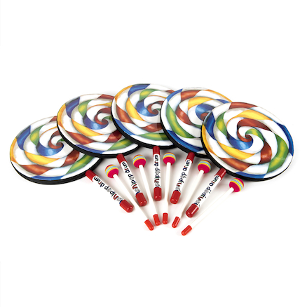 Hand Drums and Beaters Candy Design 5pk  large