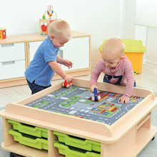 Toddler Low Play Table and Mats  medium