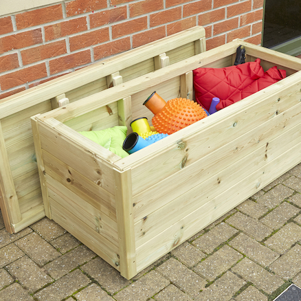 Outdoor Wooden Storage Chest  large