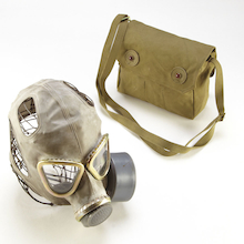 Replica WW2 Gas Mask and Bag  medium