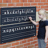 Outdoor Chalkboard Alphabet Line  small