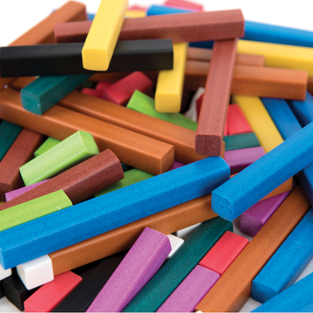 Coloured Rods Plastic  large