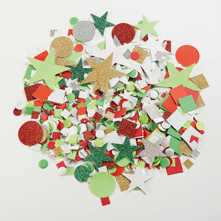 Sparkling Festive Paper Shape Assortment 3000pk  large