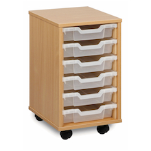 Mobile Tray Storage Unit With 6 Shallow Trays  medium
