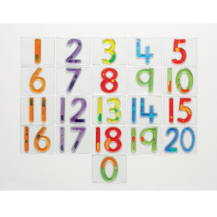 Squidgy Sparkle Number Tiles 0-20  large